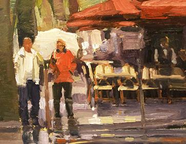 Quiet Cafe Rainy Day